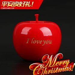 仙源红檀雕刻苹果 平安夜圣诞节工艺品摆件 创意简约木质礼物礼品