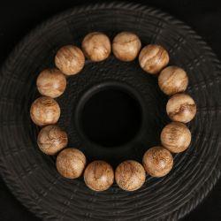 仙源 天然印尼巴布亚沉香老料佛珠手串 高油脂16mm14颗男女手链