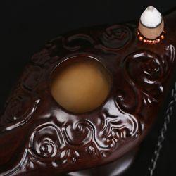 仙源 黑檀倒流香炉阿拉丁神灯家居佛具红木摆件 檀香沉香香薰炉